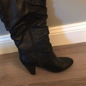 Rampage Shoes - Tall Black Boots